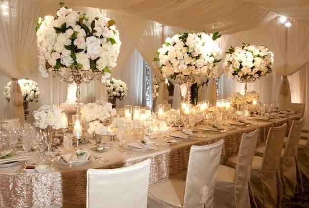Красивое украшение свадебного зала фото
